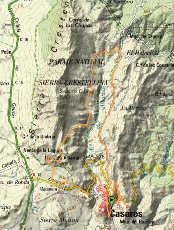 mapa nocturna